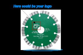 Product design sawblade logo english - Produktaufmachung Logo Sägeblatt englisch