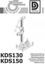 Bedienungsanleitung Bohrständer KDS 130/KDS 150 deutsch Instruction manual drill rig KDS 130/KDS 150 German
