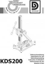 Bedienungsanleitung Bohrständer KDS 200 deutsch Instruction manual drill rig KDS 200 German