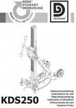 Bedienungsanleitung Bohrständer KDS 250 deutsch Instruction manual drill rig KDS 250 German
