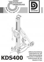 Bedienungsanleitung Bohrständer KDS 400 deutsch Instruction manual drill rig KDS 400 German