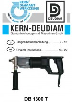 Bedienungsanleitung Bohrmotor DB 1300 T deutsch-englisch Operation manual drilling machine DB1300T German-English