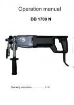instruction manual drilling machine DB 1700N - english Bedienungsanleitung Bohrmotor DB 1700 N - englisch