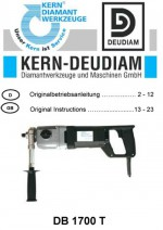 Bedienungsanleitung Bohrmotor DB 1700 T deutsch-englisch Operation manual drilling machine DB1700T German-English