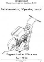 Bedienungsanleitung Fugenschneider KDF 450B deutsch-englisch Instruction manual floor saw KDF 450B German-English