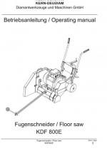 Bedienungsanleitung Fugenschneider KDF 800E deutsch Instruction manual floor saw KDF 800E German