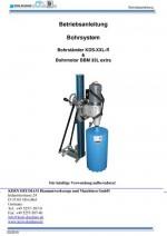 Bedienungsanleitung Bohrständer KDS-XXL-R-BBM33L extra ohne Ersatzteile deutsch Instruction manual drill rig KDS-XXL-R-BBM-33L extra ex spare parts German