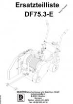 Ersatzteilliste Fugenschenider DF 75.3-E deutsch Spare parts list DF 75.3-E German