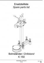 Ersatzteilliste Bohrständer K 150 deutsch-englisch Spare parts list drill rig K 150 German-English