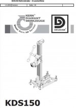 Ersatzteilliste Bohrständer Typ KDS 150 deutsch Spare parts list drill rig KDS 150 German