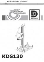 Ersatzteilliste Bohrständer Typ KDS 130 deutsch Spare parts list drill rig KDS 130 German