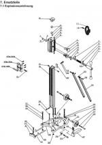 Ersatzteilliste Bohrständer KBS 300-400 deutsch Spare parts list drill rig KBS 300-400 German