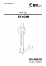 Operation manual drilll rig 620 N
