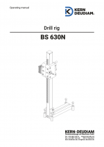 Operation manual drilll rig 630 N