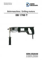 Bedienungsanleitung Bohrmotor DB1700T