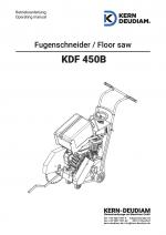 Bedienungsanleitung Fugenschneider KDF450B