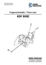 Bedienungsanleitung Fugenschneider KDF800E