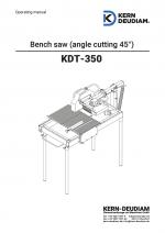 Bedienungsanleitung Tischsäge KDT350E