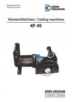 Bedienungsanleitung Wandschlitzfräse KF45