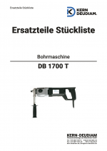 Ersatzteilliste Bohrmotor DB1700T