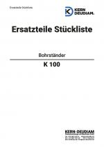 Ersatzteilliste Bohrständer K100