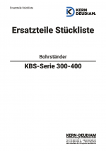 Ersatzteilliste Bohrständer KBS150