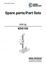 Ersatzteilliste Bohrständer KDS150