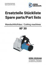Ersatzteilliste Wandschlitzfräse KF30