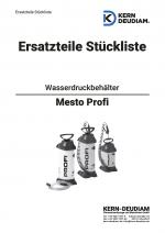Ersatzteilliste Wasserdruckbehälter Mesto Profi