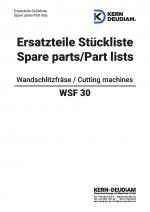 Ersatzteilliste Wandschlitzfräse WSF30