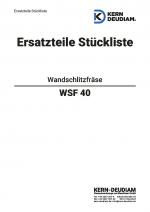 Ersatzteilliste Wandschlitzfräse WSF40