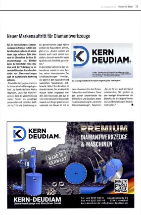 Kern-Deudiam - Bi-Baumagazin Presseartikel 2018 - neues Logo
