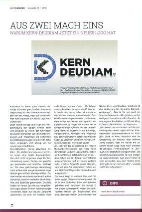 Kern-Deudiam - Der Betonbohrer Presseartikel 2018 - neues Logo