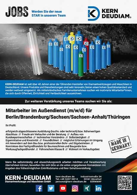KERN-DEUDIAM Jobs | Mitarbeiter im Außendienst (m/w/d) für Berlin / Brandenburg / Sachsen / Sachsen-Anhalt / Thüringen