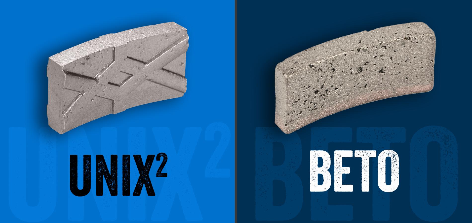 Die Diamantsegmente UNIX² und BETO von KERN-DEUDIAM. Entwickelt und hergestellt in Deutschland.